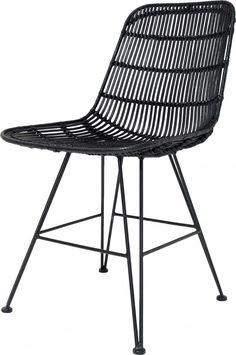 Hip en stoer: deze stoel Rotan in de kleur Naturel van het merk HK Living. Deze uitstraling komt voort uit de combinatie...