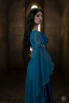 DeviantArt: More Like Morgana Pendragon from Merlin BBC 1 cosplay by sahramorgan Medieval Dress, Medieval Clothing, Narnia, Beautiful Dresses, Nice Dresses, Middle Age Fashion, Medieval Hairstyles, Long Hair Wedding Styles, Fantasy Dress