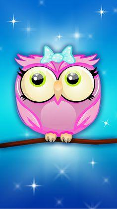 Owl Wallpaper, Cellphone Wallpaper, Iphone Wallpaper, Cartoon Owls, Stuffed Animal Patterns, Cute Wallpapers, Pikachu, Girly, Clip Art