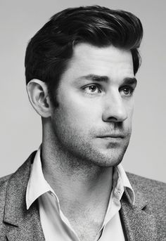 Dammit, Krasinski has amazing hair. One of the few actors who can pull off the 5 o'clock shadow w/o it looking… manicured and skeevy. Photo by: Carlos Serraro.