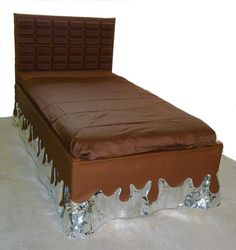 Hershey's bed.. LOL This is really creative.