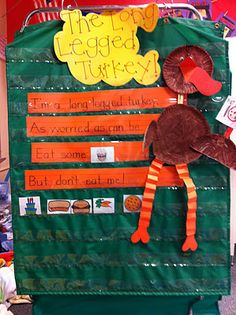 """The Long Legged Turkey"" poem... fun for rereading.  (From blog Welcome to Room 36!)"