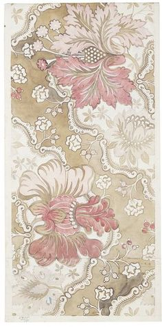 Design for textile by Anna Maria Garthwaite, 1732, Spitalfields, England. Now in the V & A's collection.