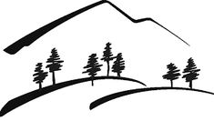 mountain outline graphic - Google Search Mountain Outline, Mountain Silhouette, Mountain Tattoo, Mountain Pass, Mountain Clipart, Pumpkin House, Clipart Black And White, Happy Trails, Silhouette Vector