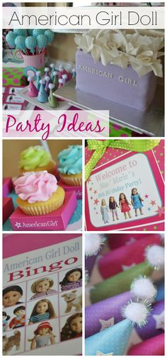 So many great ideas at this American Girl Doll birthday party, especially the American Girl Doll cake! See more party ideas at CatchMyParty.com. #americangirldoll #girlbirthdayparty