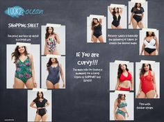 Flattering Swimsuits For Every Body Type! Do you like to know how to find your flattering swimsuits? If… You're Curvy