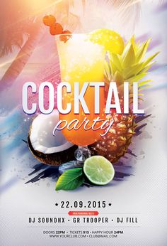 Cocktail Party Flyer by styleWish (Buy PSD file - $9) #design #poster #graphic