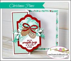 Stampin Up Christmas Pines and the Z fold Card | Stampin With Sandi | Bloglovin'