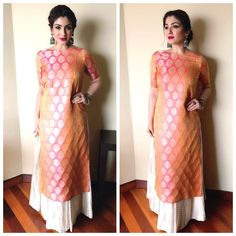 Image may contain: 2 people Blouse Designs Silk, Kurta Designs, Dress Designs, Indian Attire, Indian Outfits, Indian Wear, Anarkali Dress, Kurta Skirt, Lehenga