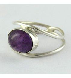 925 STERLING SILVER Ladies Purple Genuine Amethyst by SilverRoxs