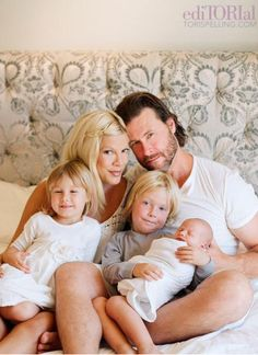 The McDermotts - love the headboard on their bed....
