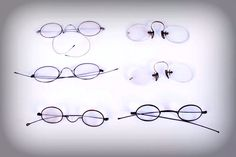 6c5231b9d07b Instant collection of early antique spectacle eyeglasses. 6 assorted  styles