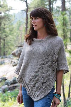 Knit while traveling through South Dakota and Colorado. High Plains is a poncho . Knit while traveling through South Dakota and Colorado. High Plains is a poncho with texture and details that come toget. Poncho Knitting Patterns, Crochet Poncho, Knit Or Crochet, Knitted Shawls, Knit Patterns, Free Knitting, Crochet Vests, Crochet Edgings, Crochet Shirt