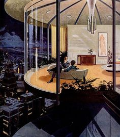 """Motorola Ads """"House of the Future"""" by Charles Scridde, early 1960s, No. 7"""