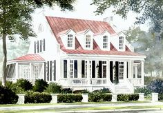 22 ideas exterior house styles cottages southern living for 2019 Style At Home, Country Style Homes, House Plans One Story, Best House Plans, House Floor Plans, The Plan, How To Plan, Country Farmhouse Decor, Farmhouse Plans