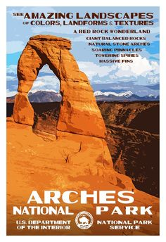 Arches National Park   National Park Posters