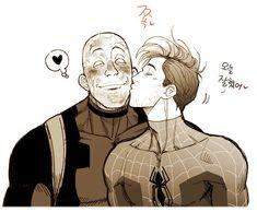 ˗ˏˋ Spideypool: Into The Spiderverse ˎˊ˗ Marvel Funny, Marvel Memes, Marvel Avengers, Deadpool X Spiderman, Spiderman Spider, Spideypool Comic, Yuri, Couples Comics, Spider Verse