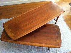 Vintage Lane Furniture Swivel Table by American Dinnerware Antiques