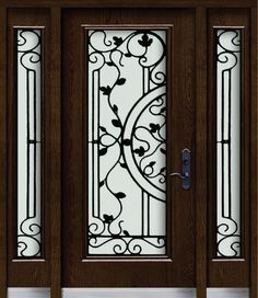 31 Awesome doors with wrought iron insert images