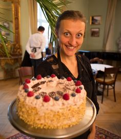 Our Royal layer cake at our tearoom in the Gardenroom at the Museum of Copenhagen!