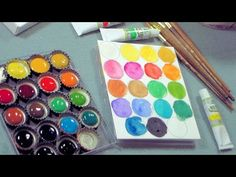 DIY bottlecap palette ! I so love my water colors and this is an awesome Idea !! ❤Hippie Hugs with Lღve, Michele❤