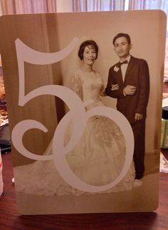 Centerpieces for my in-laws 50th Wedding Anniversary