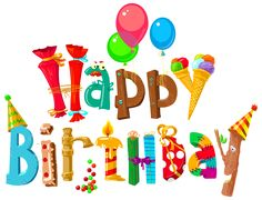 Funny Happy Birthday Clipart Image
