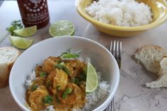 Sauteed shrimp in a flavourful broth with curry paste and coconut milk can be served as an appetizer with crusty bread or served over rice or noodles Peameal Bacon, Pork Back Ribs, Coconut Curry Shrimp, Shrimp Risotto, Hot Pepper Jelly, Thai Sweet Chili Sauce, Barbecue Ribs, Shrimp And Asparagus, Homemade Recipe