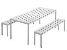Tavolo da giardino in acciaio SANMARCO 2571 by Zanotta design Gae Aulenti