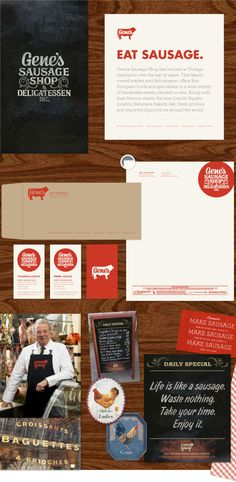 Love this branding - [Gene's Sausage Shop - Knoed Creative]