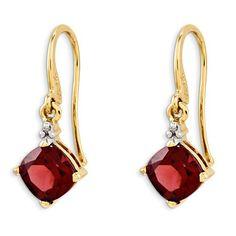 Garnet Drop Earring 1.5 Ct Rhodolite Garnet Earrings 5 mm Round Garnet Earrings Rhodolite Garnet Dangle Earring Designer Garnet Drop Earring