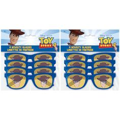 Toy Story Pinhole Glasses Party Favors, - Toys for years old happy toys 3 Year Old Birthday Party Boy, 2nd Birthday Boys, Sleepover Birthday Parties, Toy Story Birthday, Toy Story Party, Frozen Birthday, Birthday Ideas, Pixar, Bubble Guppies Birthday
