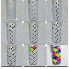 Choose Nail Art Designs That Fit Your Life Nail Art Hacks, Nail Art Diy, Diy Nails, Cute Nails, Pretty Nails, Nail Nail, Nail Polish Art, Nail Polish Designs, Nail Art Designs