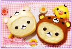 How cute! Rilakkuma bread! ^o^