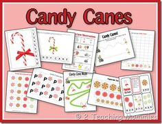 2 Teaching Mommies Candy Cane printables packet