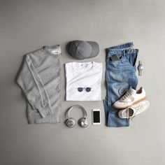men's fasion outfits grid style inspiration for guys fashion Sneakers Mode, Sneakers Fashion, Tomboy Fashion, Mens Fashion, Fashion Trends, Gents T Shirts, Spring T Shirts, Outfits Hombre, Outfit Grid