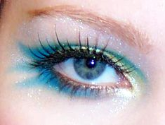 mermaid eyes.. so pretty. if i would ever actually wear makeup like this.