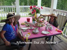 I surprised my Granddaughters with an Old Fashioned Tea Party. It's a wonderful way to make memories and to teach your little girls how little ladies are to act and how to host.