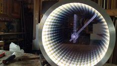 Infinity Mirror Clock http://www.justleds.co.za  https://www.leddancefloor.info  https://www.kznwedding.dj