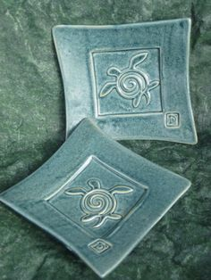 Sea Turtle Stamp Plate set of 2 Blue Stoneware by dkfdesign, $23.99    http://www.etsy.com/listing/83295382/sea-turtle-stamp-plate-set-of-2-blue?utm_campaign=Share_medium=PageTools_source=Pinterest