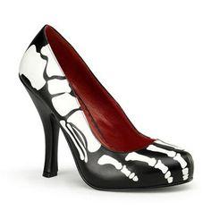 Skeleton high heel pump