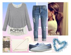 """""""ROMWE"""" by villa-thoj ❤ liked on Polyvore featuring Keds, Casetify, Forever 21, women's clothing, women, female, woman, misses and juniors"""