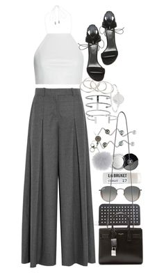 """Untitled #8348"" by nikka-phillips ❤ liked on Polyvore featuring Yves Saint Laurent, J.Crew, Vanessa Mooney, rag & bone, Marc by Marc Jacobs, Toast, Ray-Ban, Stuart Weitzman, Chanel and LJD Designs"