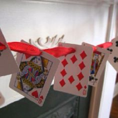 Great decoration idea for a Casino Night party theme
