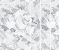 Carrera Marble Herringbone fabric by sparrowsong on Spoonflower - custom fabric