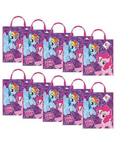 My Little Pony Party Tote Bag - kids and adults Favor Bags & Boxes and Party Favors My Little Pony Birthday Party, 5th Birthday Party Ideas, Birthday Party Decorations, Party Themes, Party Favors, 4th Birthday, Rainbow Dash Party, Wholesale Party Supplies, My Lil Pony