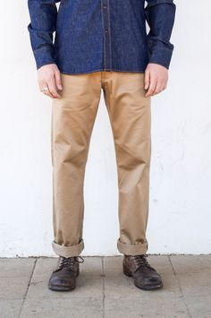 Freenote Cloth | Workers Chino Vintage Fit - Khaki | $220