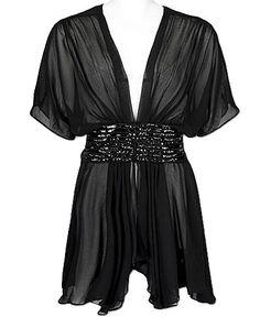 black beaded waist top