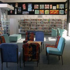 Seating.  Art Display.  An example of comfortable, relaxed student seating | Services to Schools