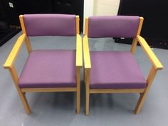 2 x used waiting room reception chairs